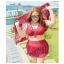 PreOrderไซส์ใหญ่ - ชุดว่ายน้ำคนอ้วนไซส์ใหญ่ 3 ชิ้น สี : ไวน์แดง / ฟ้า thumbnail 2